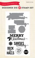 Santa Sentiments Die/Stamp Set