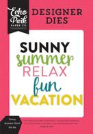 Sunny Summer Word Die Set