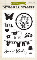 It's A Girl 4x6 Stamp