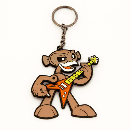 Rockin' Monkey Keychain - Brown