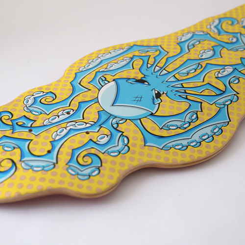 Octopus Skateboard - Yellow