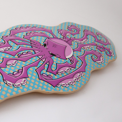 Octopus Skateboard - Purple