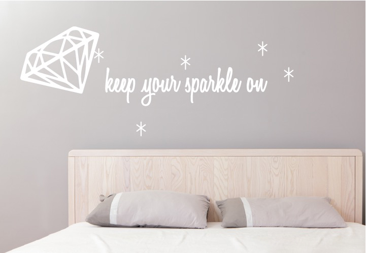 Keep Your Sparkle On Quote Wall Sticker