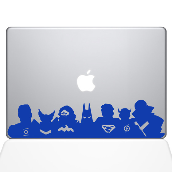 Super Heroes Mac Sticker