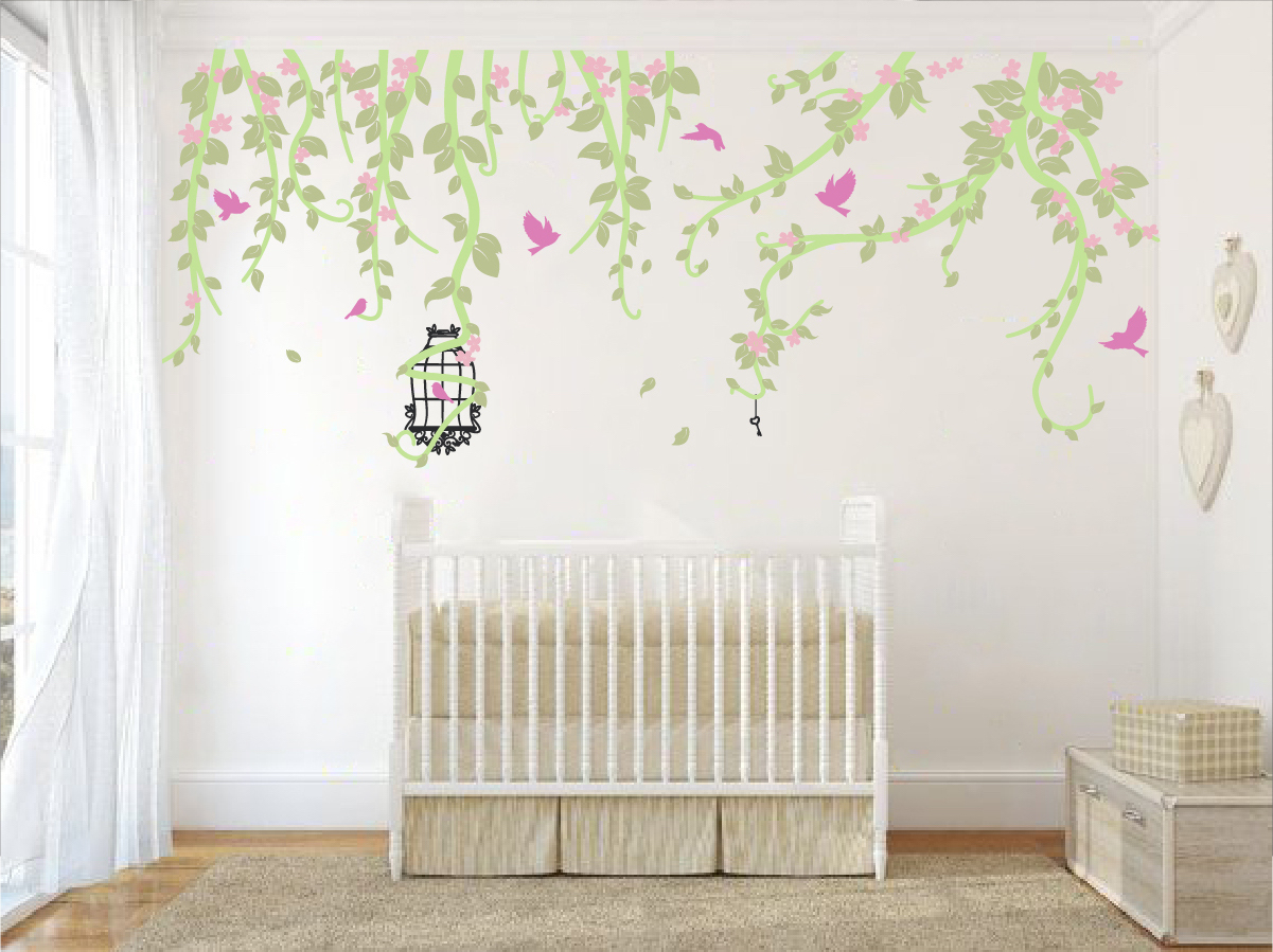 Spring Flower Wall Decal Sticker