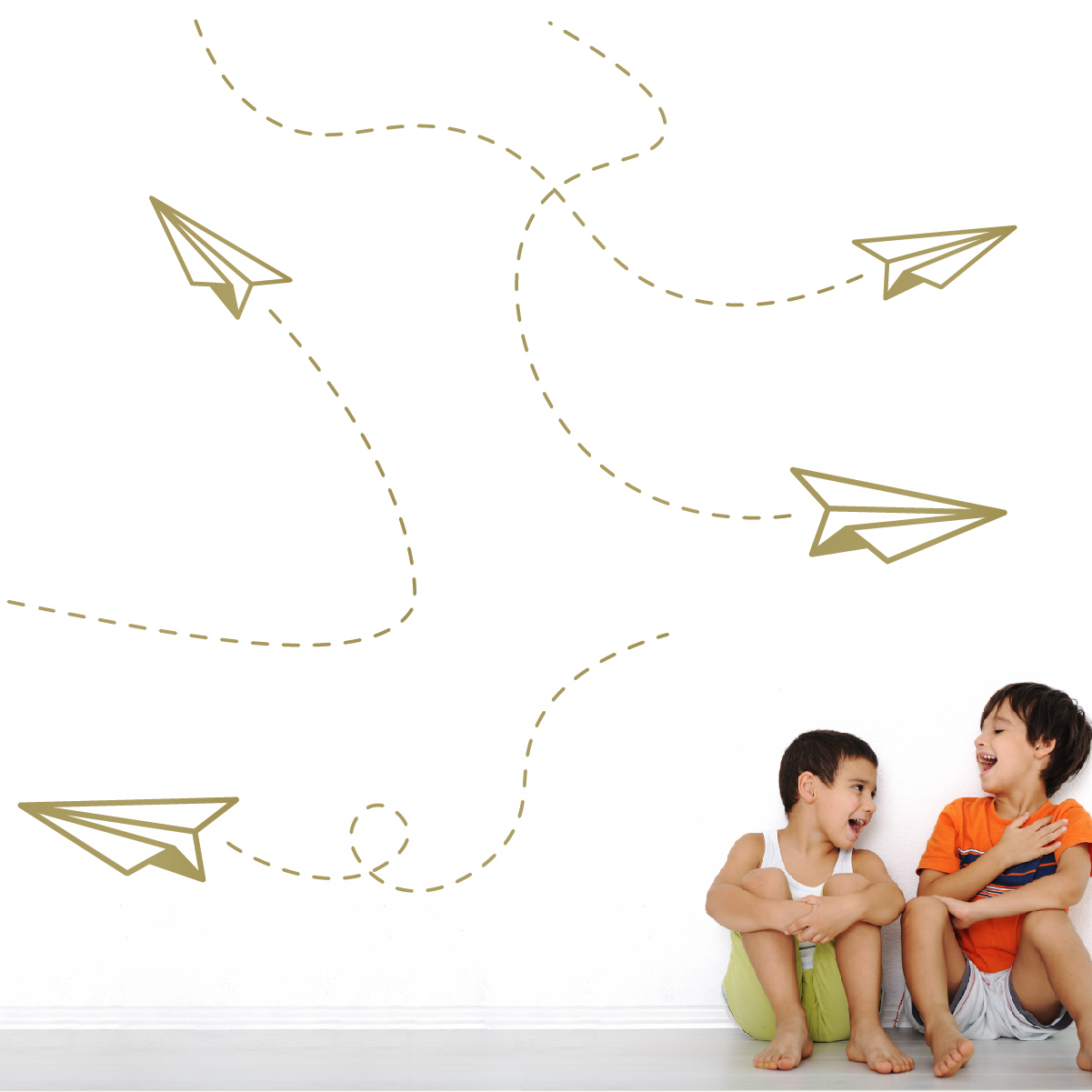 Paper Plane Wall Decal Sticker