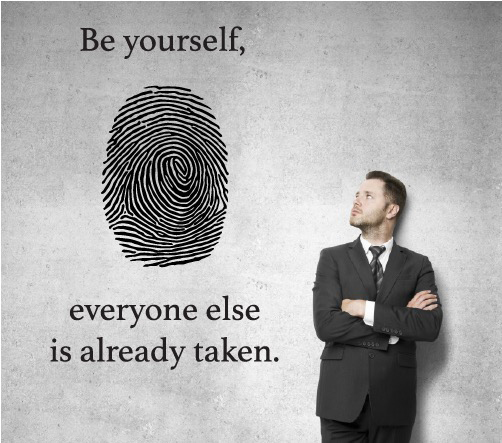 Be yourself quote wall sticker