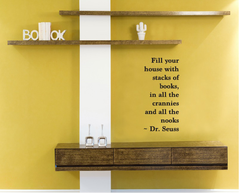 Dr Seuss quote wall sticker