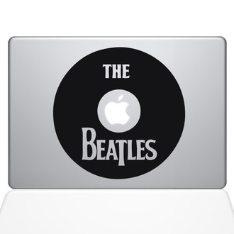 The Beatles Record Macbook Decal Sticker Black
