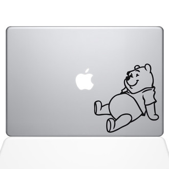Winnie the Pooh Day Dream Macbook Decal Sticker Black
