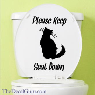 Cat potty humor decal sticker