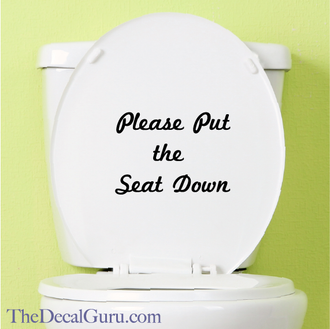 Please put the seat down decal sticker