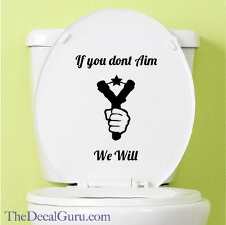 Potty Humor Signs Decal