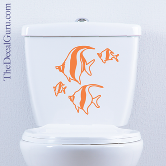 Tropical Fish toilet decal