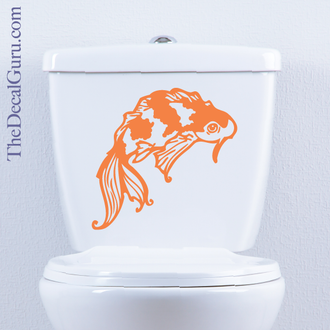 Koi Fish toilet decal