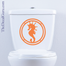 Sea Horse Nautical toilet decal sticker