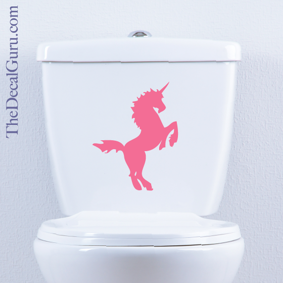 Unicorn Toilet Decal The Decal Guru