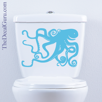Octopus toilet decal tentacles
