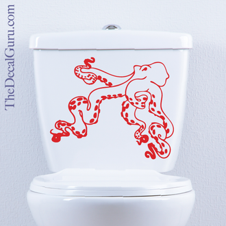 Octopus Cracken toilet decal