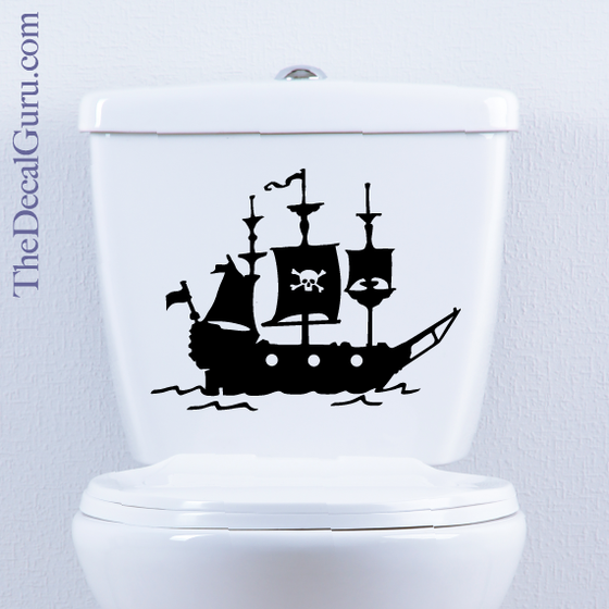 Pirate Ship decal Toilet sticker