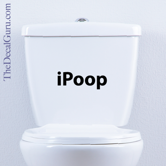 iPOOP Toilet Decal