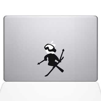 Skiing decal Apple Macbook Decal Sticker Black