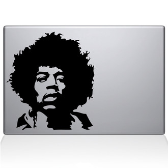Jimi Hendrix Macbook Decal Sticker Black