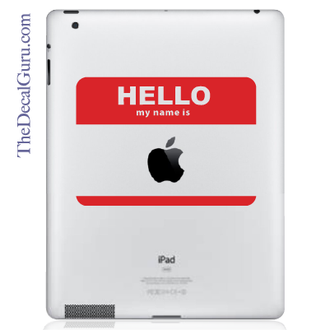 Name Tag iPad Decal