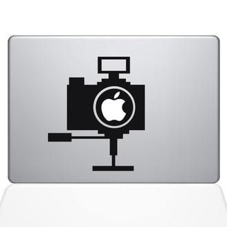 Point and Shoot Camera Macbook Decal Sticker Black