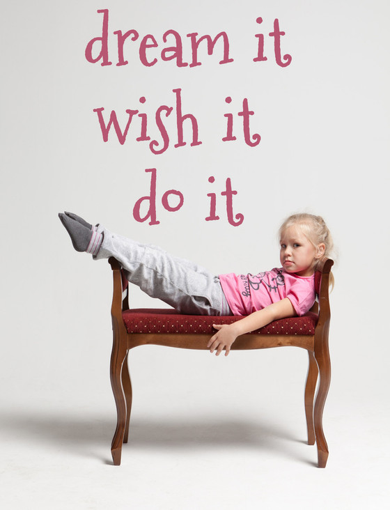 Dream It Wish It Do It Vinyl Decal Girls Room Wall Art Décor Inspirational Quote