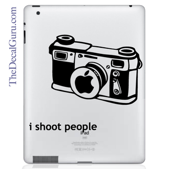 I Shoot People iPad Decal