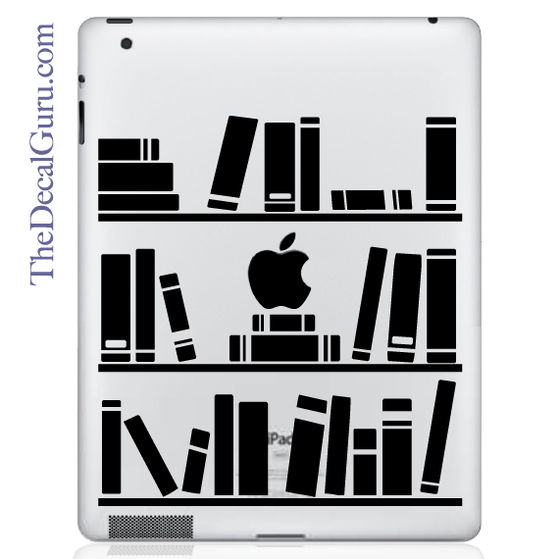 Bookshelf Library iPad Decal
