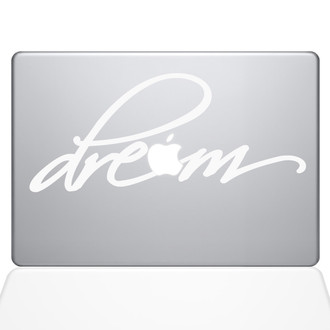 Dream Macbook Decal Sticker White