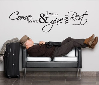 Come To Me Bible Quote Wall Decal