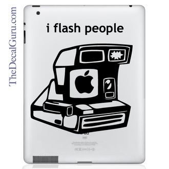 i flash people iPad decal