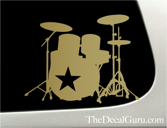 drums car decal