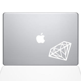 Diamond Macbook Decal Sticker White