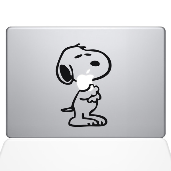 Snoopy Love Macbook Decal Sticker Black