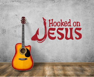 Hooked on Jesus Wall Decal