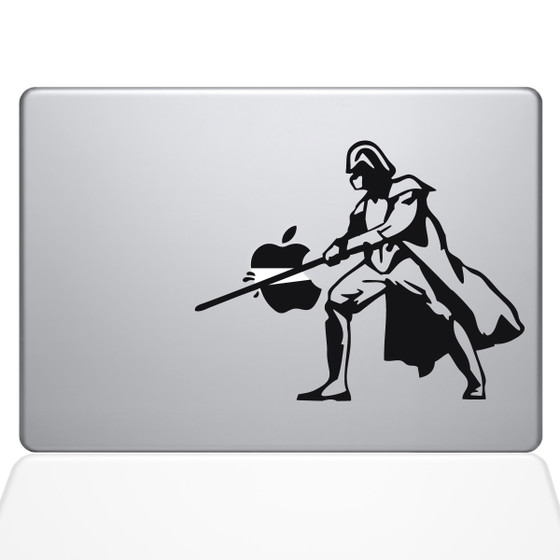 Darth Vader VS Apple Macbook Decal Sticker Black