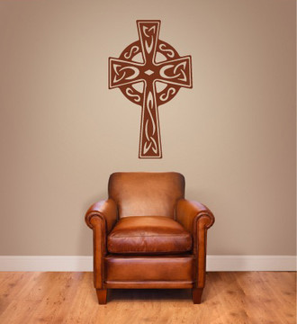 Celtic Cross Wall Decal