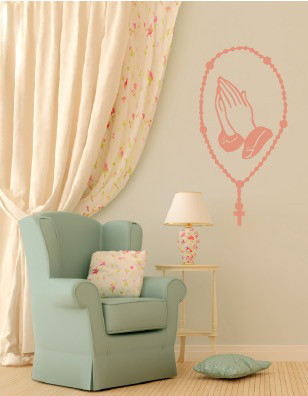 Catholic Rosary Wall Decal