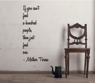 Mother Teresa Quote Wall Decal
