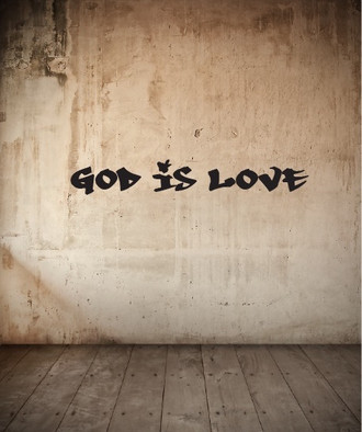 God is Love Graffitti Wall Decal
