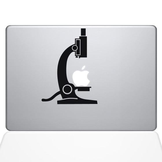 Science Microscope Macbook Decal Sticker Black