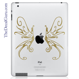 Swirly Wings iPad Decal