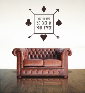 May the Odds Cards Wall Decal