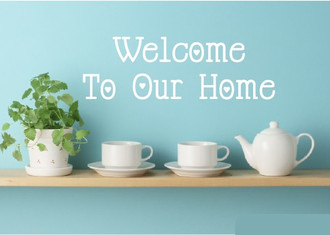 Welcome Hearts Wall Decal