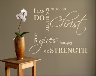 I Can Do All Things Wall Decal
