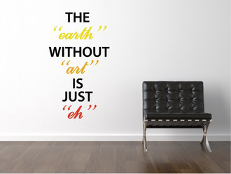 Earth Without Art Wall Decal